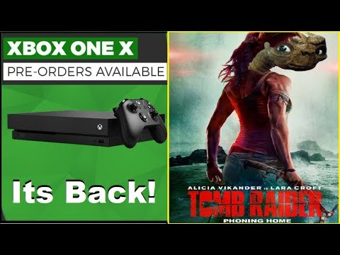 Xbox One X Scorpio Edition Back In Stock. Tomb Raider Trailer Reaction.PS4 Fortnite Crossplay