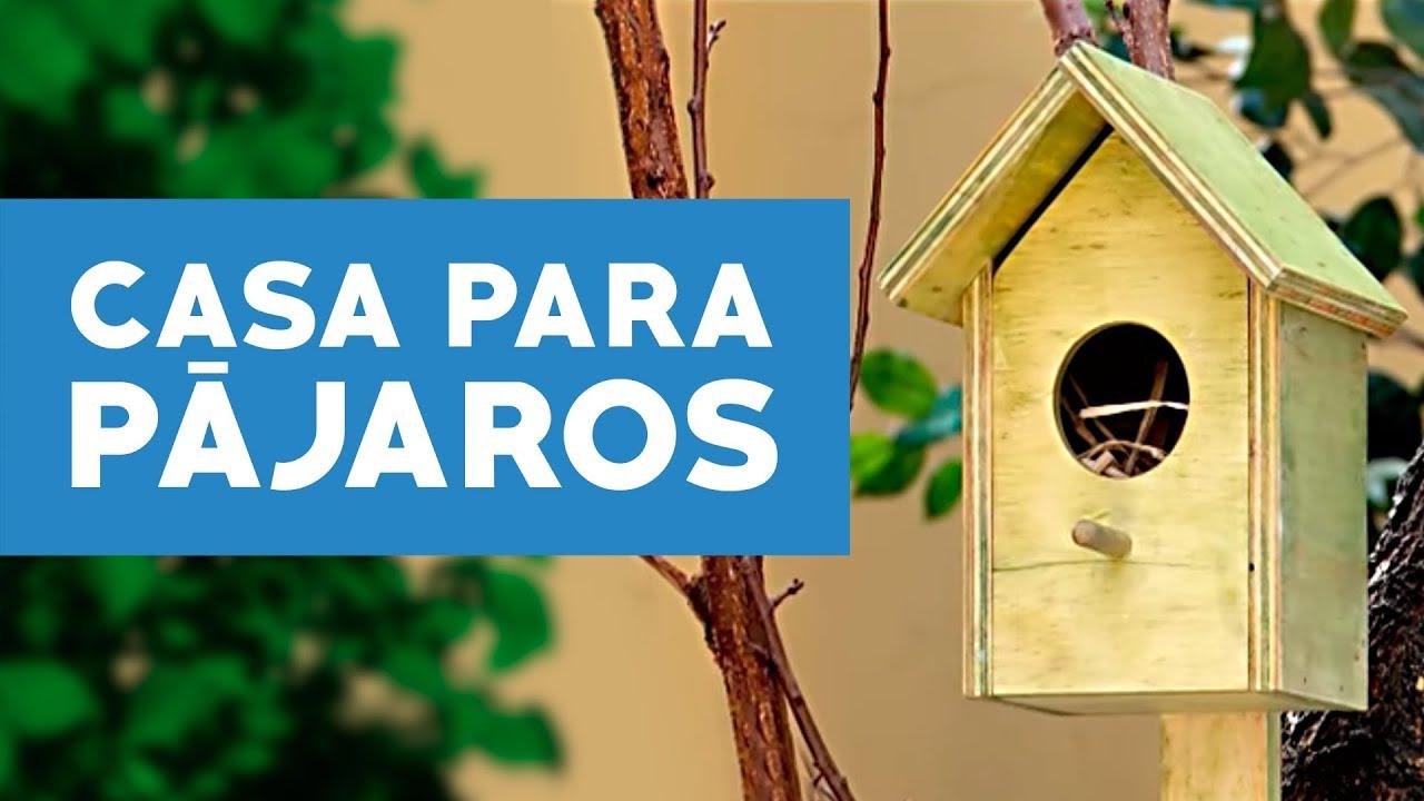 Cómo hacer una casa para pájaros  - YouTube dace92735b2