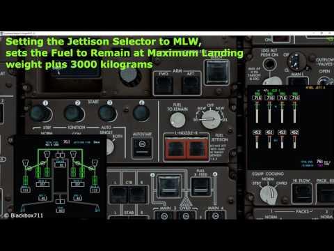 747 400 emergency fuel dump doovi. Black Bedroom Furniture Sets. Home Design Ideas