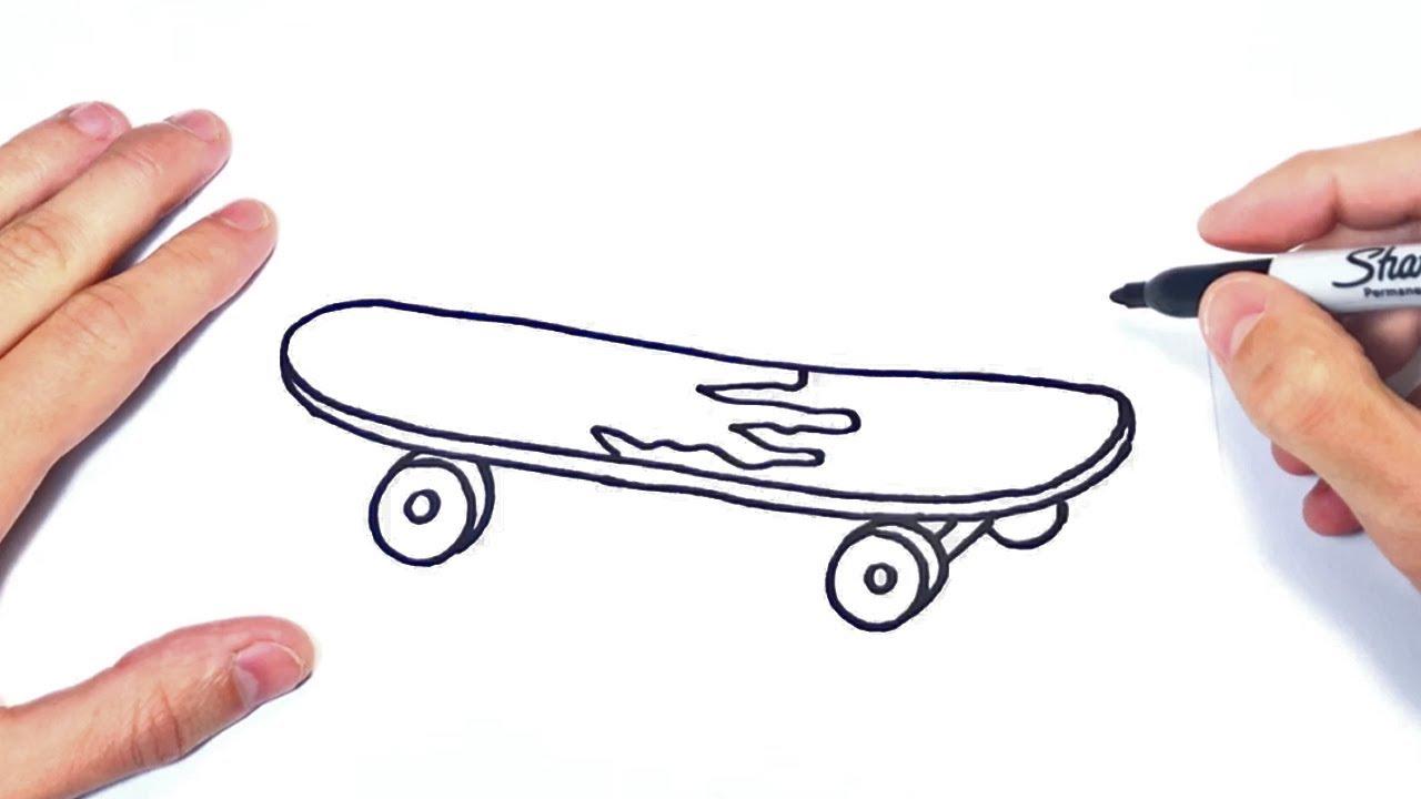 Cómo Dibujar Un Skate Paso A Paso Dibujo De Skate O Monopatin