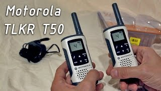 распаковка Motorola TLKR T50