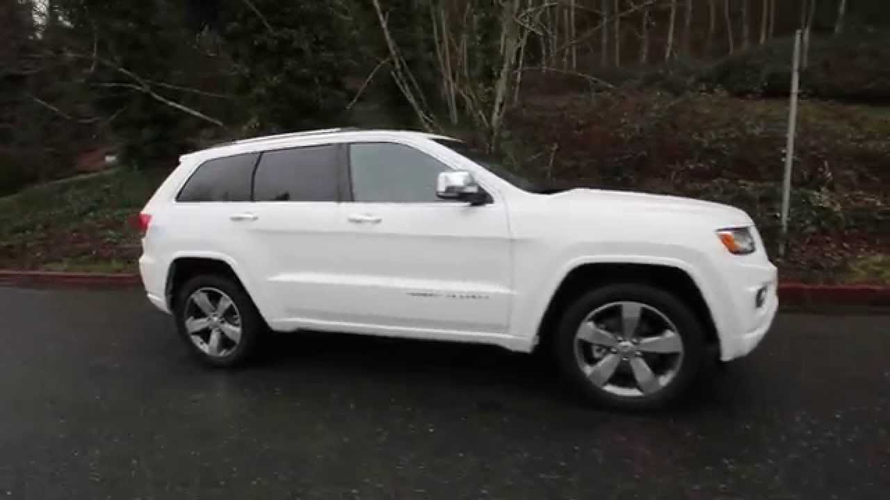 2015 Jeep Grand Cherokee Overland White Fc757792