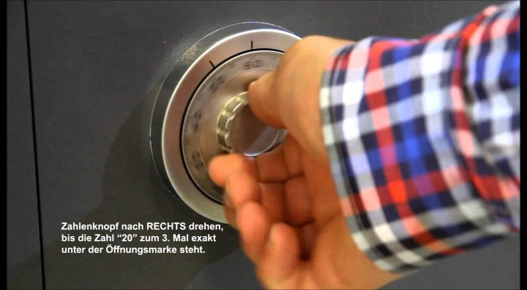 mechanisches zahlenschloss f r tresore und waffenschr nke la gard 3330 youtube. Black Bedroom Furniture Sets. Home Design Ideas
