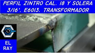 Cómo soldar perfiles delgados y placa gruesa con electrodo 6013 Transformador thumbnail
