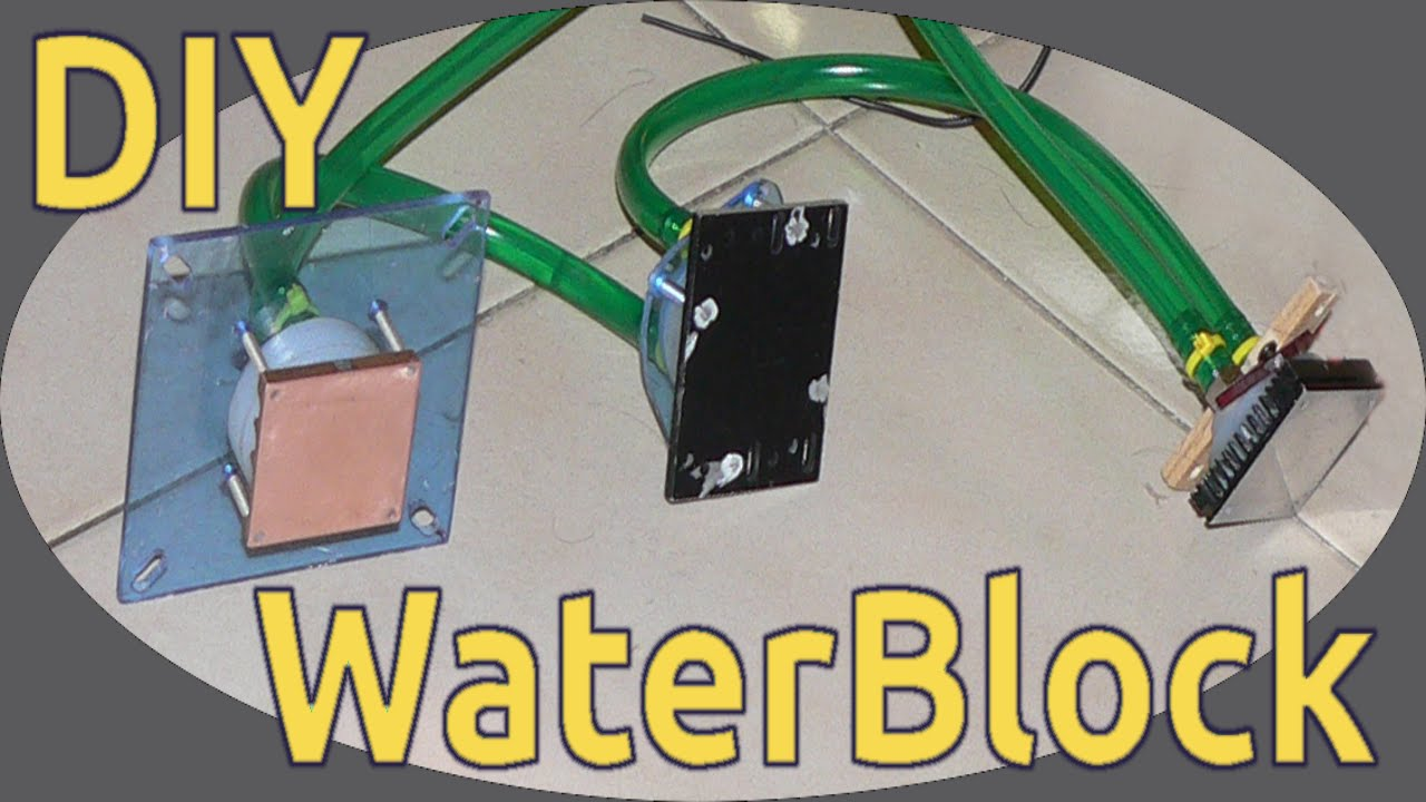 How to DIY WaterCooling - build pumps and waterblock - flame test