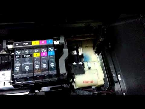Canon MP600 修理後、電源投入 - YouTube