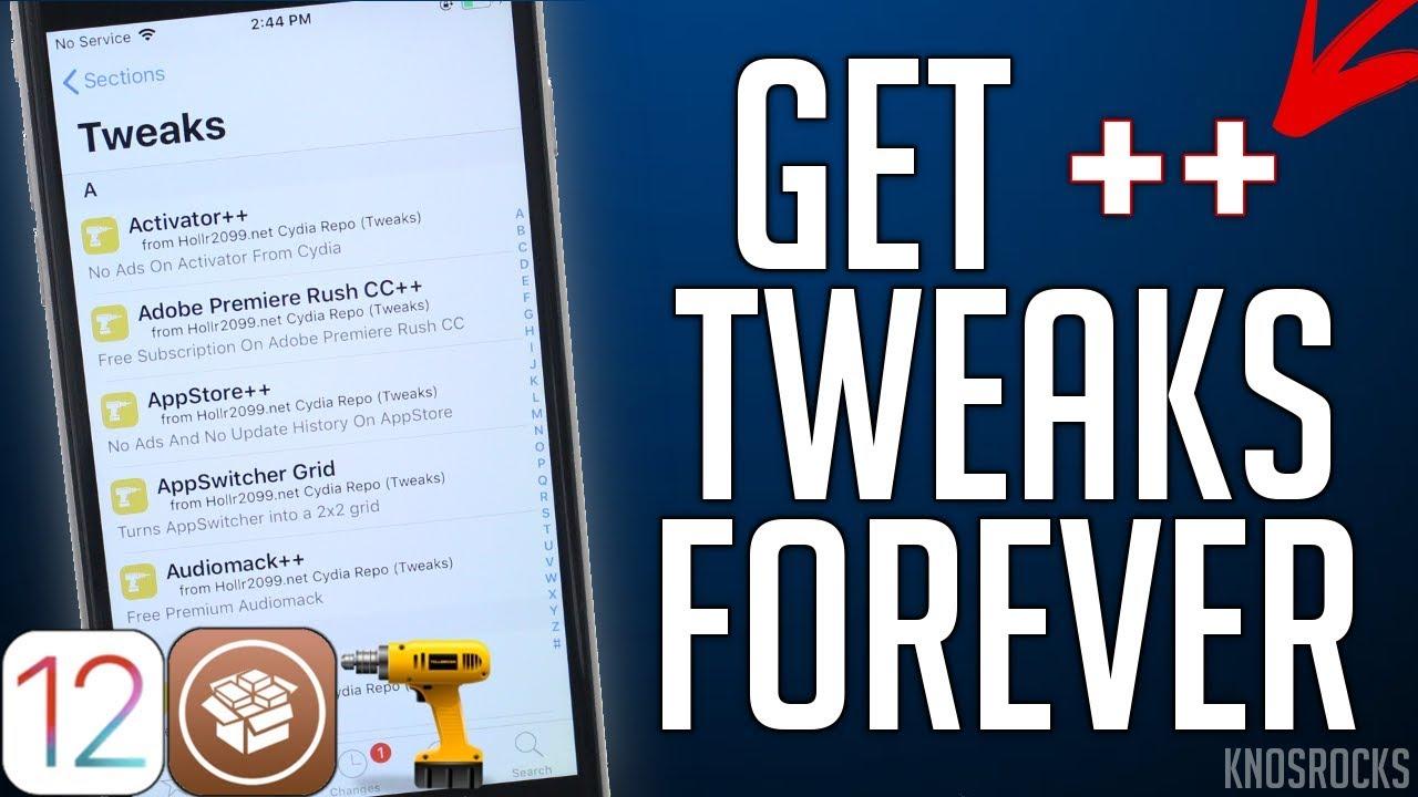 NEW! Get ++ Apps/Tweaks FREE iOS 12 - 12 1 2 / 11 Jailbreak NO REVOKE /  COMPUTER iPhone iPad iPod