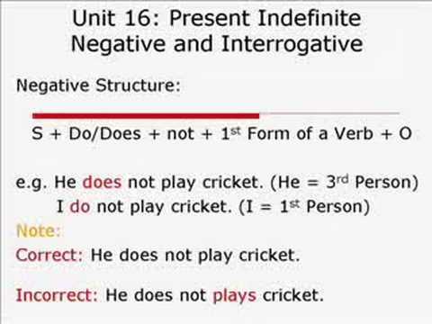 Unit 16: Present Simple (Indefinite) Tense (In Urdu) - YouTube