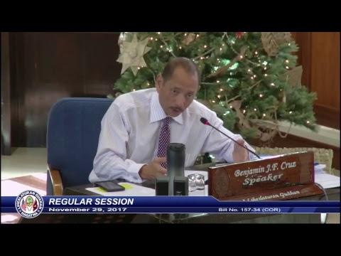 34th Guam Legislature Regular Morning Session - November 29, 2017