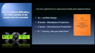 "[DEFCON 20] Creating an A1 Security Kernel in the 1980s (Using ""Stone Knives and Bear Skins"")"