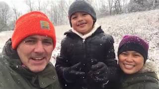 Family Fun Sleigh Riding On The First Snow Day Of The Year