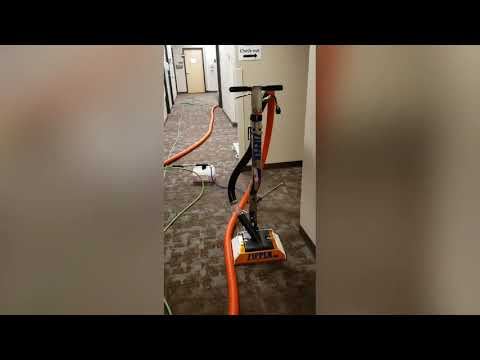 New Orange - Blue Zipper SS Super Spinner & terrible ice melt salt removal from commercial carpet