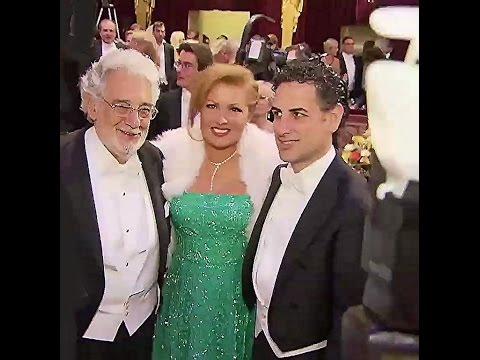 Anna Netrebko/Placido Domingo/J.D-Florez beim Wiener Philharmonikerball 2017