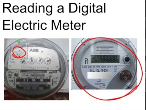 Reading a Digital Electric Meter & Calculate Usage and Cost