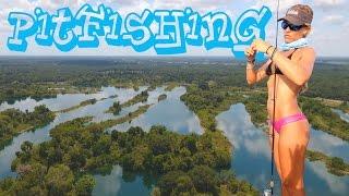 Girl BASSFISHING on Private Florida Lake feat. Phantom Drone