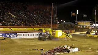 unbelievable monster truck backflip by son uva grave digger ryan anderson