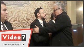 هانى لاشين وعمرو عبد العزيز ومحمد العدل ومحسن علم الدين وم يحضرون عزاء محمود أبو زيد