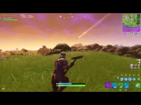 Meteor ACCUALLY CRASHES IN FORTNITE!(close to tomato town)(not clickbait)