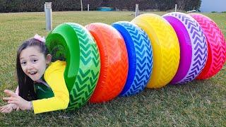 Öykü Pretend Play in the  outdoor playground! Family Fun Adventures with Öykü Show