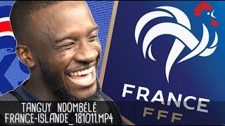 TANGUY NDOMBÉLÉ APRÈS FRANCE - ISLANDE (2 - 2) / Guingamp - 12 octobre 2018