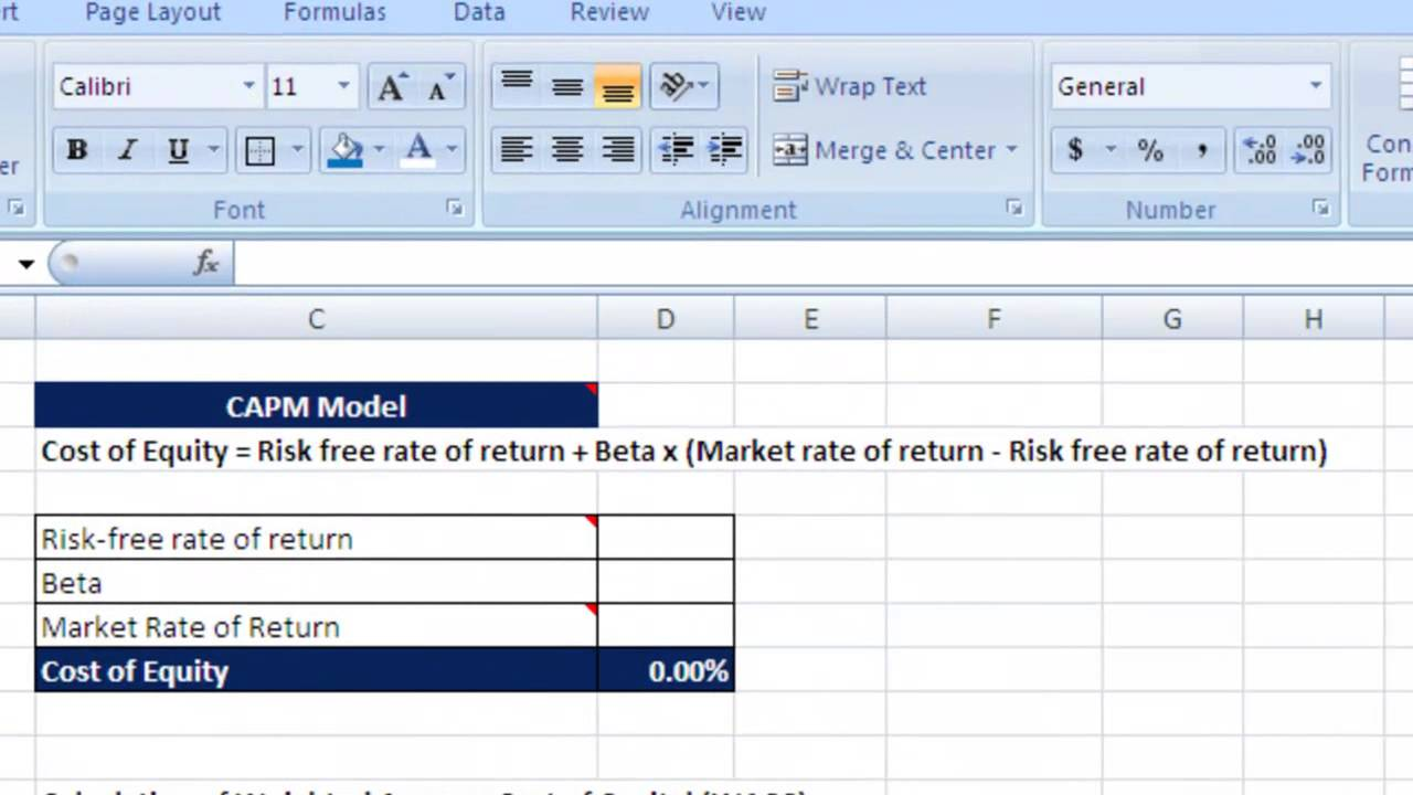 how to calculate wacc cost equity and debt youtube