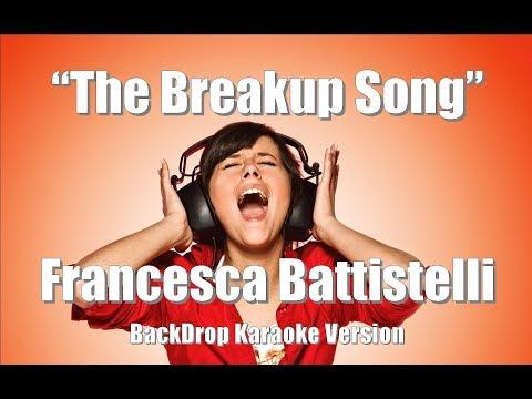 "Francesca Battistelli ""The Breakup Song"" BackDrop Christian Karaoke"