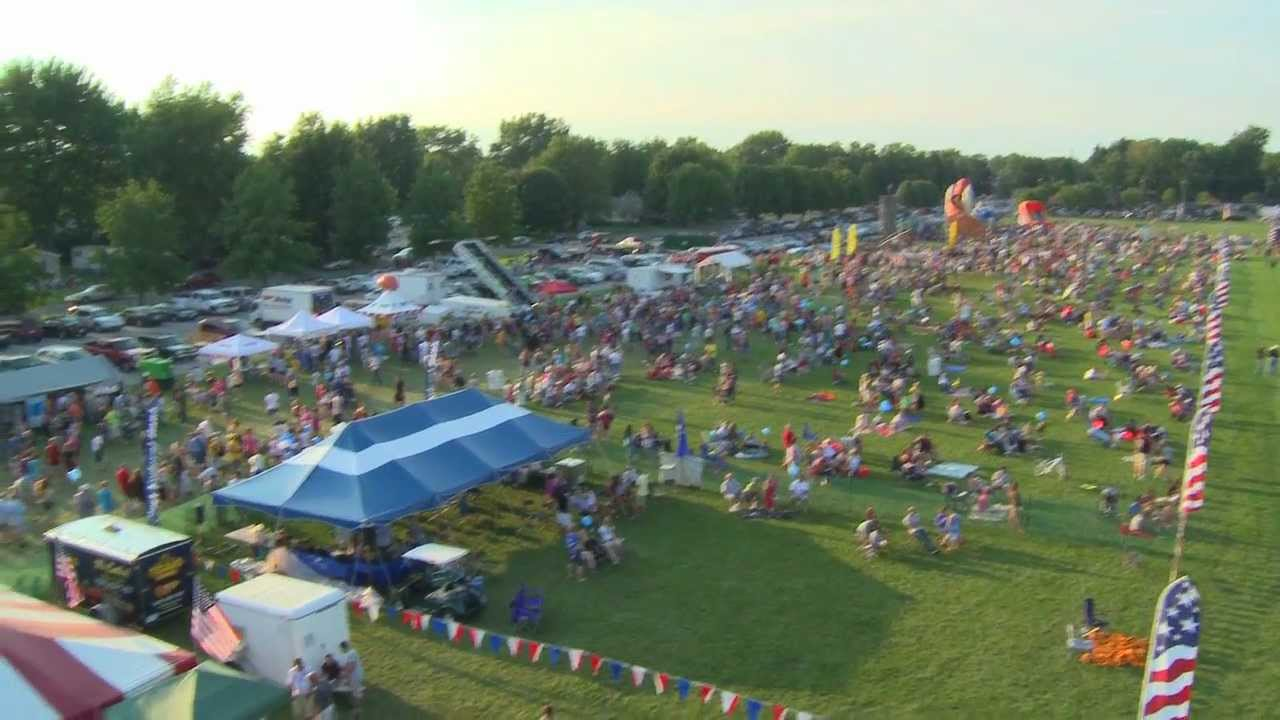 the flag city balloonfest in findlay ohio