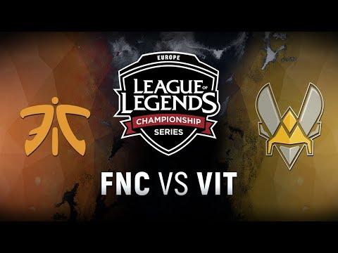 FNC vs. VIT - Week 7 Day 2 | EU LCS Spring Split |  Fnatic vs. Team Vitality (2018)