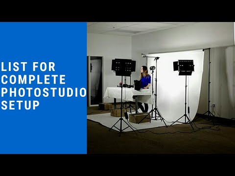Complete Photostudio Setup।List Of Equipment Required For Photography Studio।2020