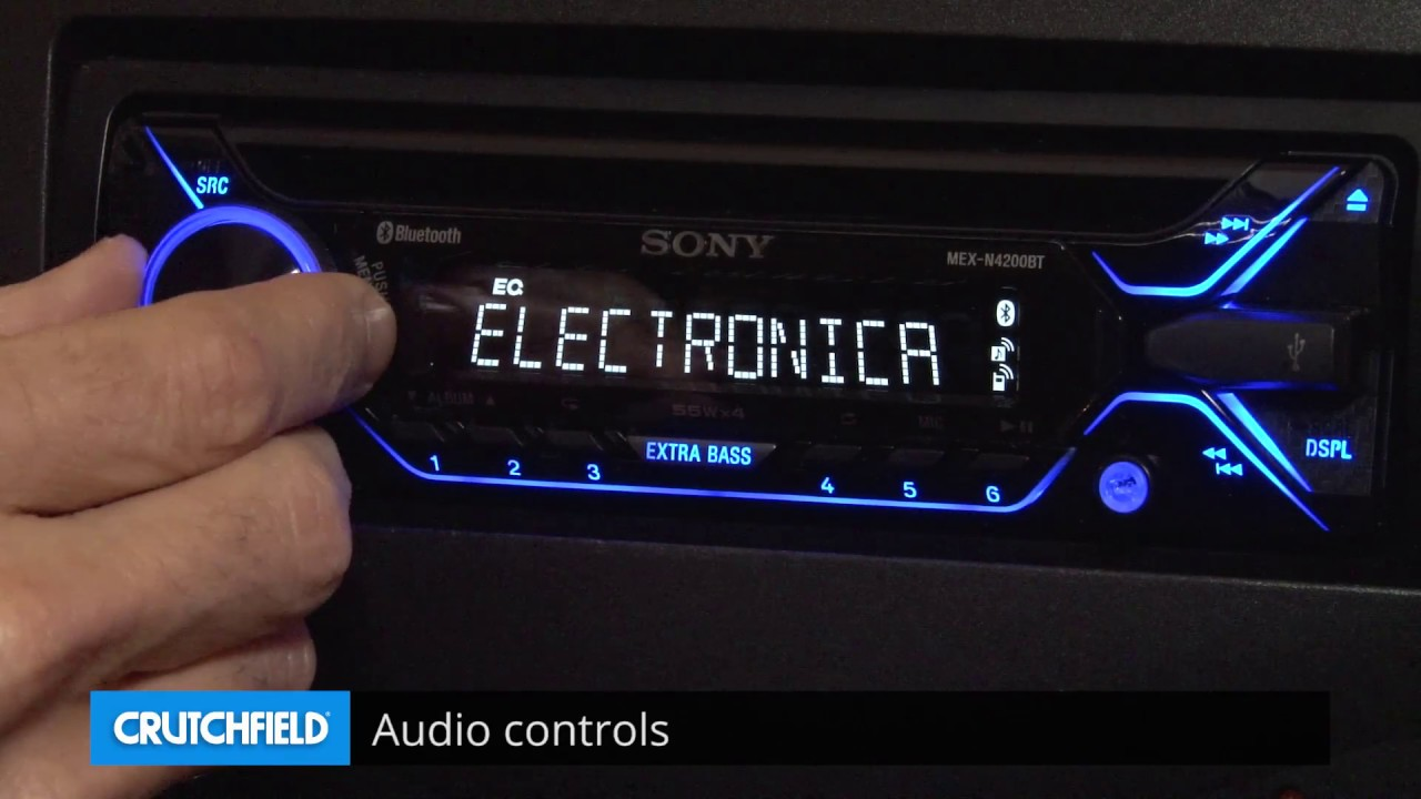 hight resolution of sony mex n4200bt display and controls demo crutchfield video