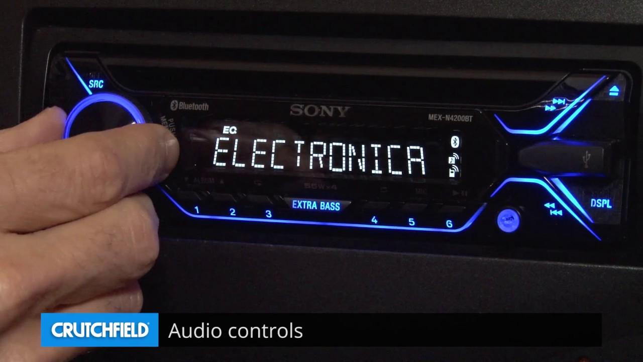 sony mex n4200bt display and controls demo crutchfield video [ 1280 x 720 Pixel ]