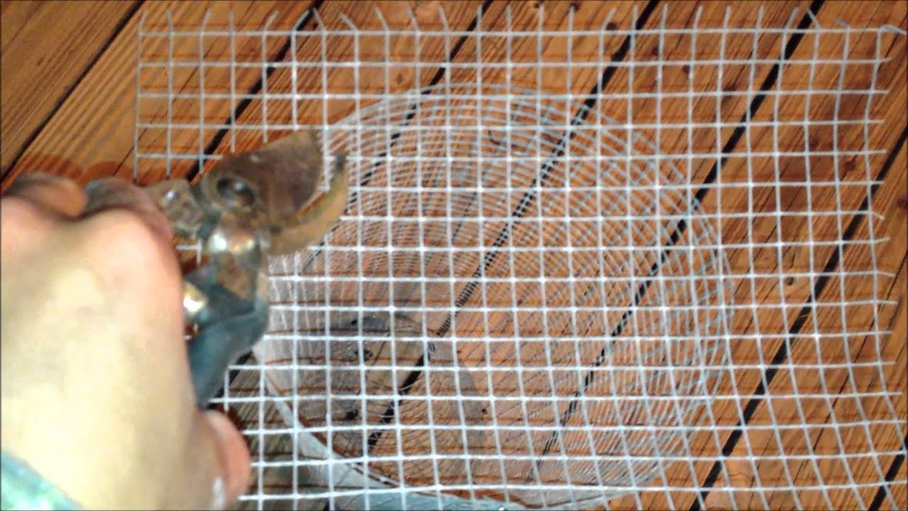 How to make a pin fish trap bait trap youtube for Fish trap net