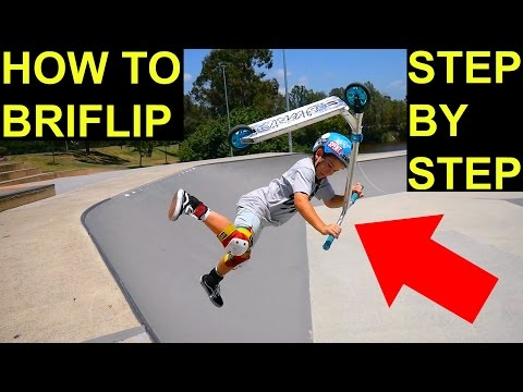 HOW TO BRI FLIP ON A SCOOTER✅Beginner Tutorial⚠️‼️