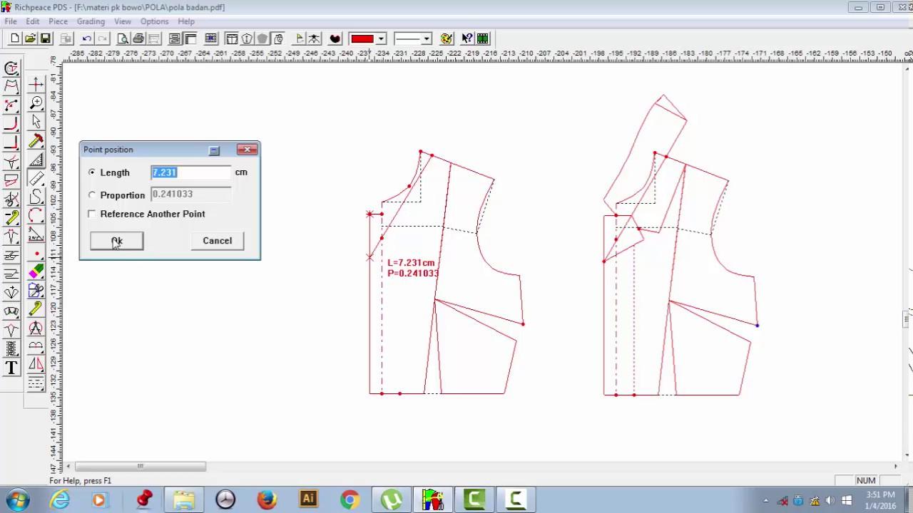01 Pola Kerah Rever Richpeace Pattern Design System 229 Youtube