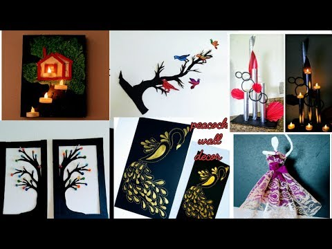 6 wall decor ideas / art and craft / do it yourself / paper craft wall decoration / amazing pixies