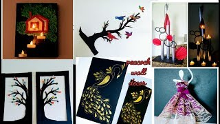 6 wall decor ideas / diy wall decor/crafts/diy crafts / paper craft wall decoration / amazing pixies