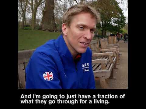 This Very Crazy Brit Ran an Entire Marathon in Ski Boots