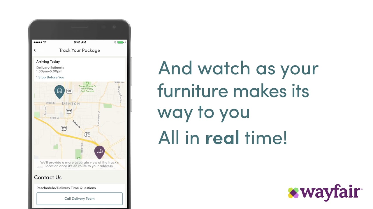 Wayfair - Day of Delivery Tracking - YouTube