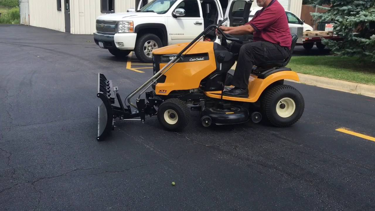 Nordic Plow easily attaches to the Cub Cadet plow assembly