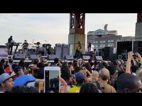 Bayfront Reggae and World Music Festival 2016 Duluth, Minnesota. Maxi Priest doing what he does best