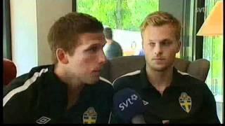 Anders Svensson driver med Emir Bajrami och Sebastian Larsson säger eh :)