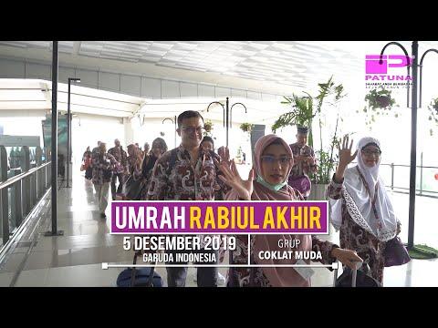 Keberangkatan rombongan Jamaah Umrah Liburan Akhir Tahun Patuna 26 Desember 2019 Grup Coklat Muda by.