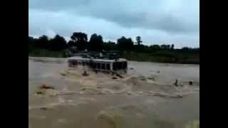 Shocking!! Bus and Passengers Washed Away in West Bengal River 2012