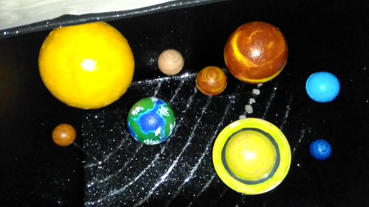Maquete Do Sistema Solar 3d Youtube
