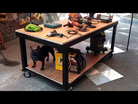 DIY Gasless MIG Welding a Workbench Table