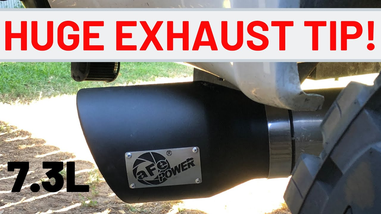 i bought a 7 inch exhaust tip for my 7 3 powerstroke s 5 straight pipe do tips make a difference