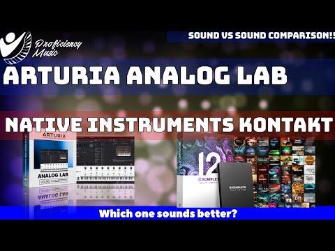 Arturia Analog Lab vs Native Instruments Kontakt: Sound vs Sound Comparison!