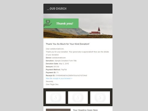 Give Custom Donation Receipt Email Template Tutorial