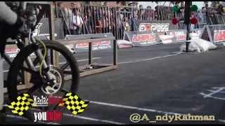 Seru!!! Duel Eko kodok vs dwi batank di AHRS Indonesia Drag bike Championship Series Bantul