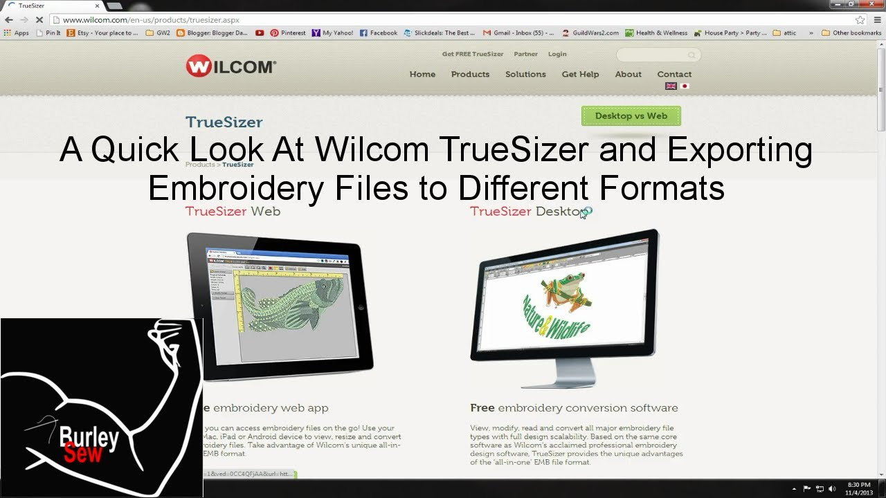 A quick look at wilcom truesizer and how to change